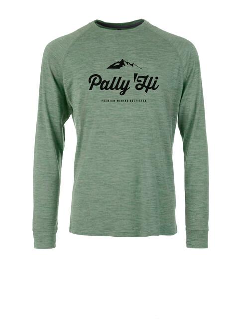 Pally'Hi Classic Peak Logo Maglietta a maniche lunghe Uomo verde